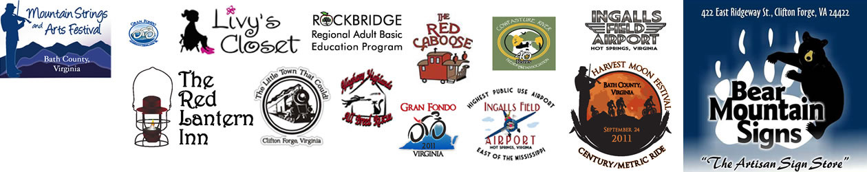 Bear Mountain Signs - Clifton Forge Virginia ~ Logos branding